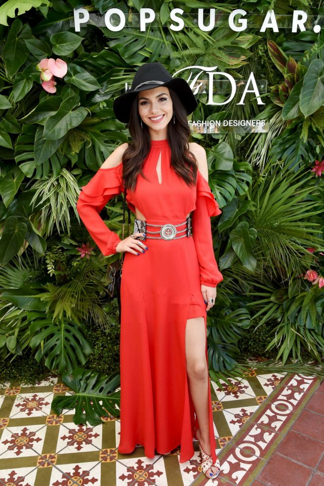 Victoria Justice - POPSUGAR and CFDA's Brunch at 2017 Coachella in Indio