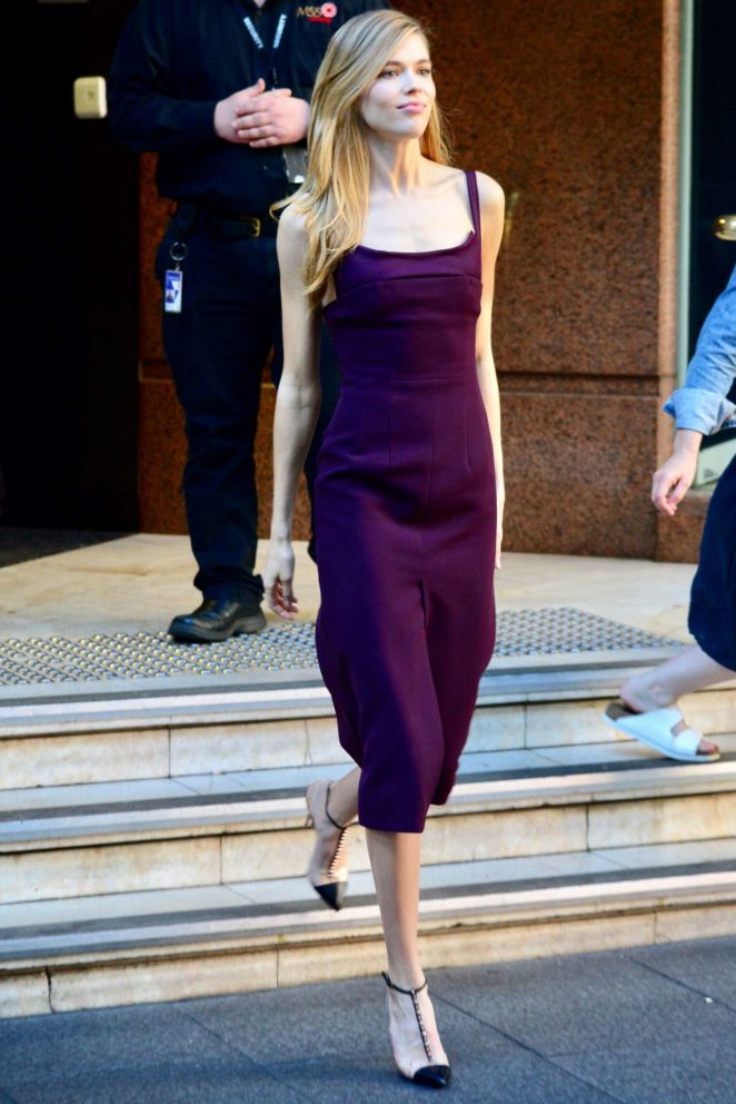 Victoria Lee - Leaving the Morning Show in Sydney