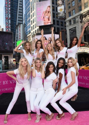 Victoria's Secret Angels - Body By Victoria Campaign Launch in NYC