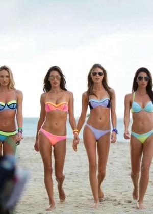 victorias secret model summer 2015 swimsuit behind the