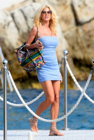 Victoria Silvsted - seen leaving the Eden Roc Hotel in Antibes