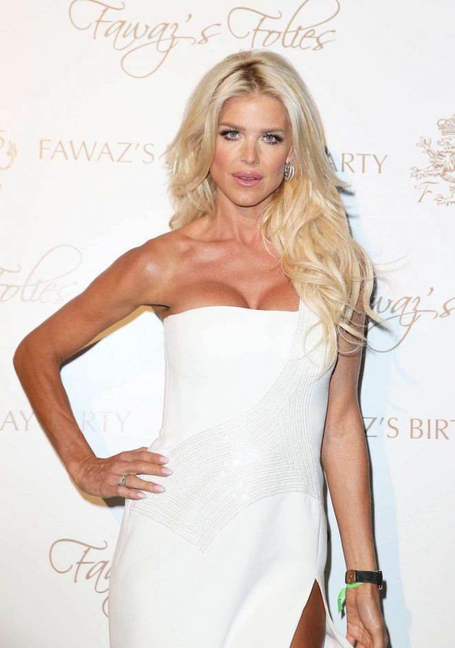 Victoria Silvstedt - Fawaz's Folies birthday party in Sardinia