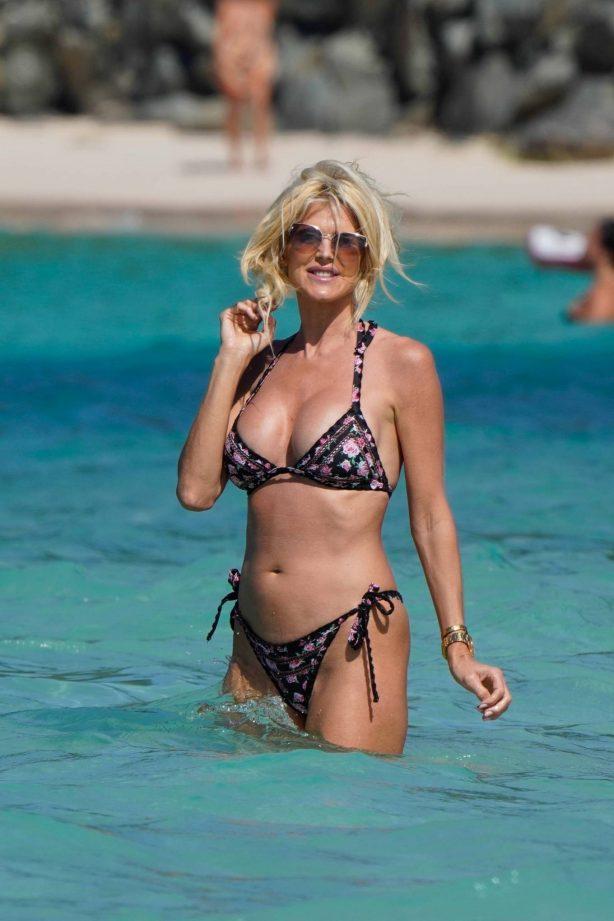 Victoria Silvstedt - In a bikini in St. Barth