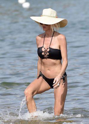 Victoria Silvstedt in Bikini and Swimsuit in Cala di Volpe