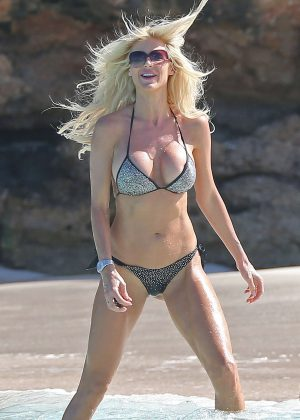 Victoria Silvstedt in Bikini on the Beach in Saint Barthelemy