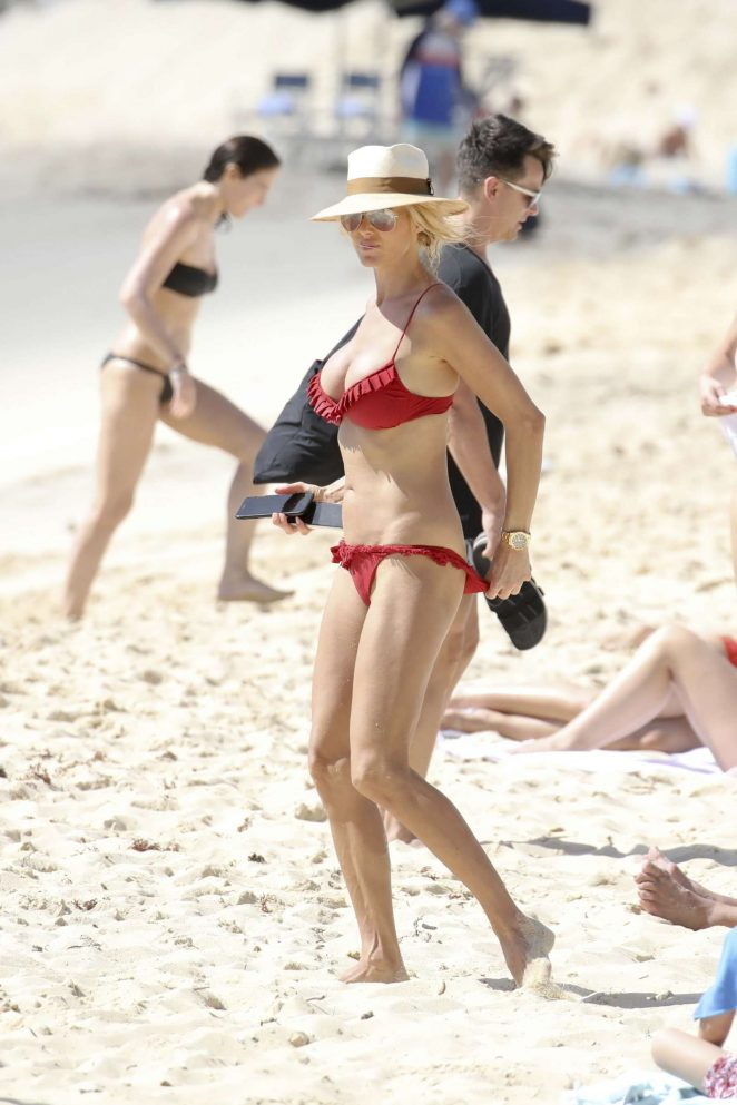 Victoria Silvstedt in Red Bikini 2018 -09