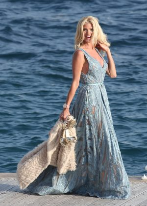 Victoria Silvstedt - Leaving Eden Roc Hotel in Antibes