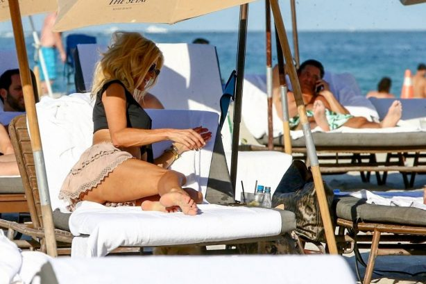 Victoria Silvstedt - on the beach at The Setai in Miami Beach