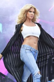 Victoria Silvstedt - Performing at the 'We who love the 90's' Music Festival in Stockholm