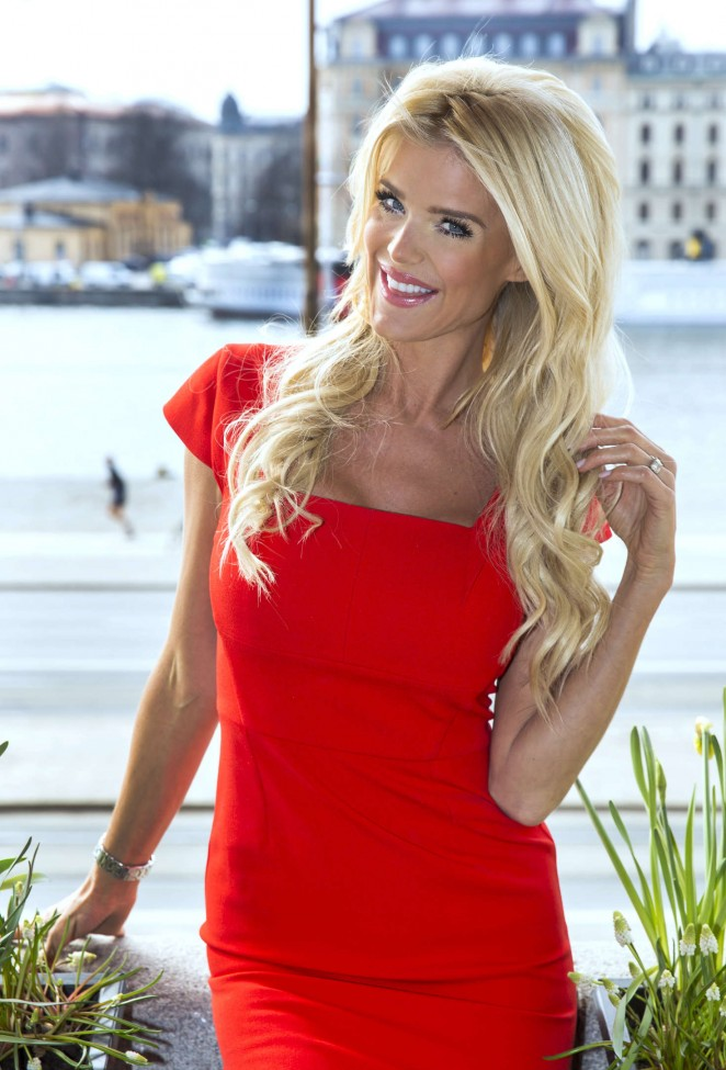 Victoria Silvstedt - Reality Stars Stockholm Photocall in Sweden