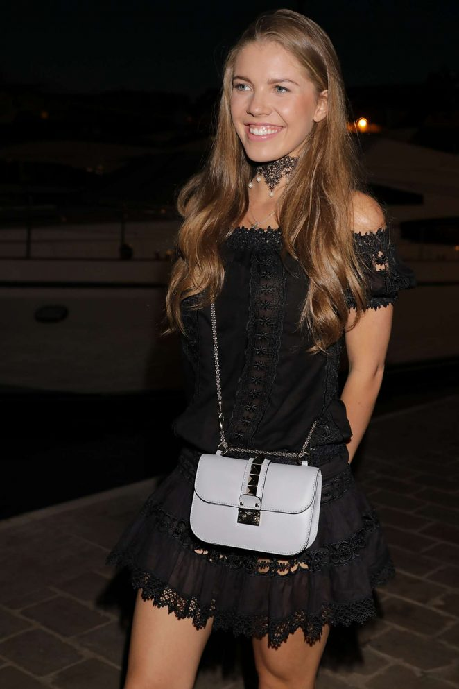 Victoria Swarovski Arriving at yacht party in Cannes