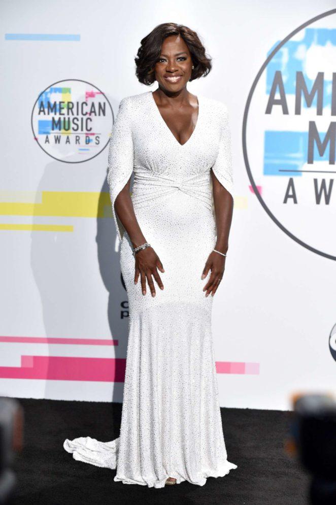 Viola Davis - 2017 American Music Awards in Los Angeles