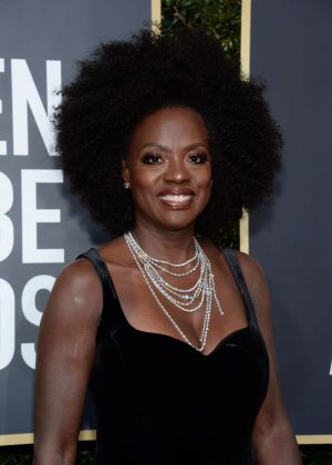 Viola Davis - 2018 Golden Globe Awards in Beverly Hills