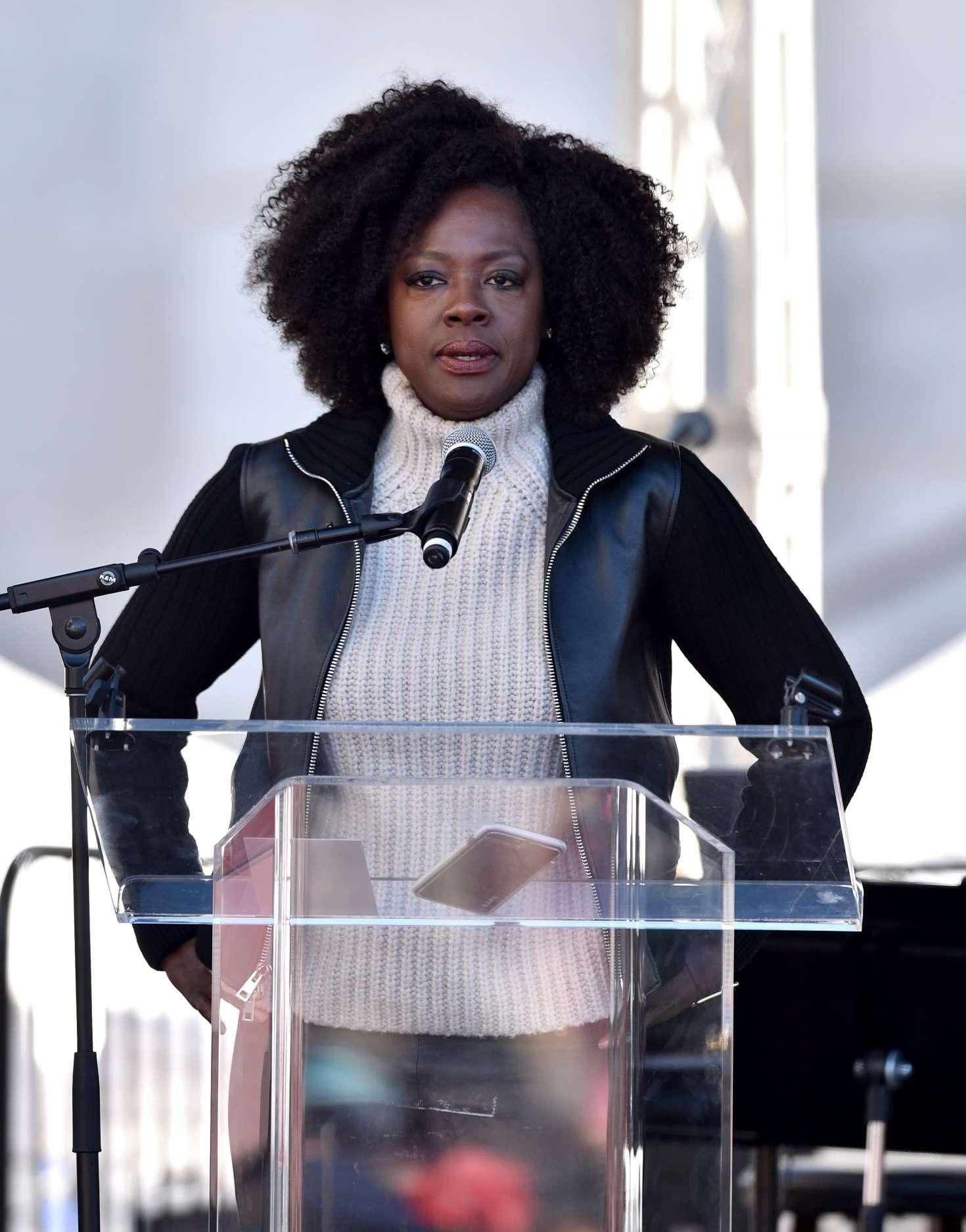 Viola Davis - 2018 Women's March in Los Angeles