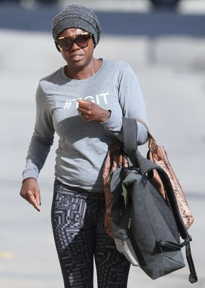 Viola Davis - Arriving at the ABC Studios in Hollywood