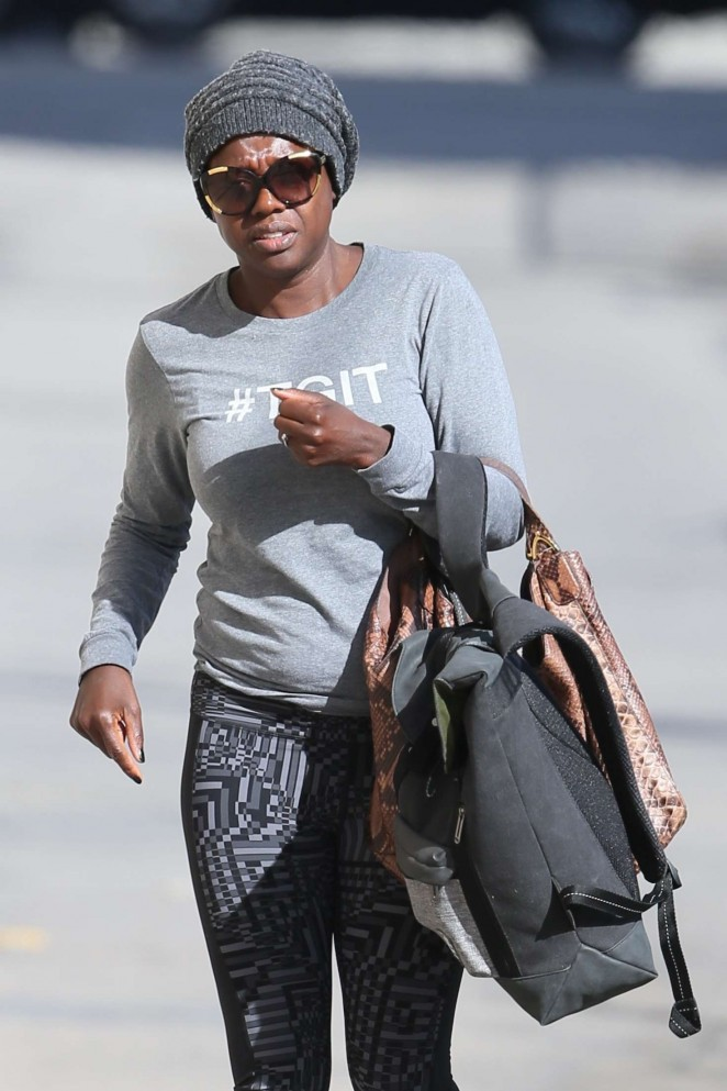 Viola Davis – Arriving at the ABC Studios in Hollywood