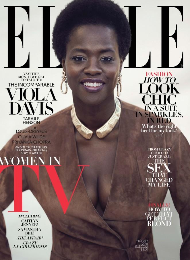 Viola Davis – Elle Magazine Cover (February 2016)