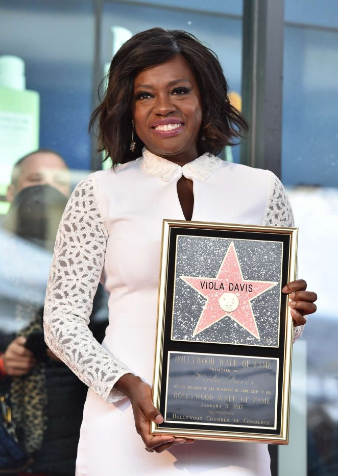 Viola Davis – Hollywood Walk of Fame Honors in Los Angeles