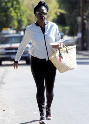 Viola Davis out in Los Angeles