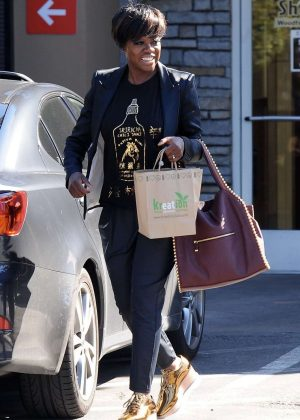 Viola Davis Out Shopping in Los Angeles