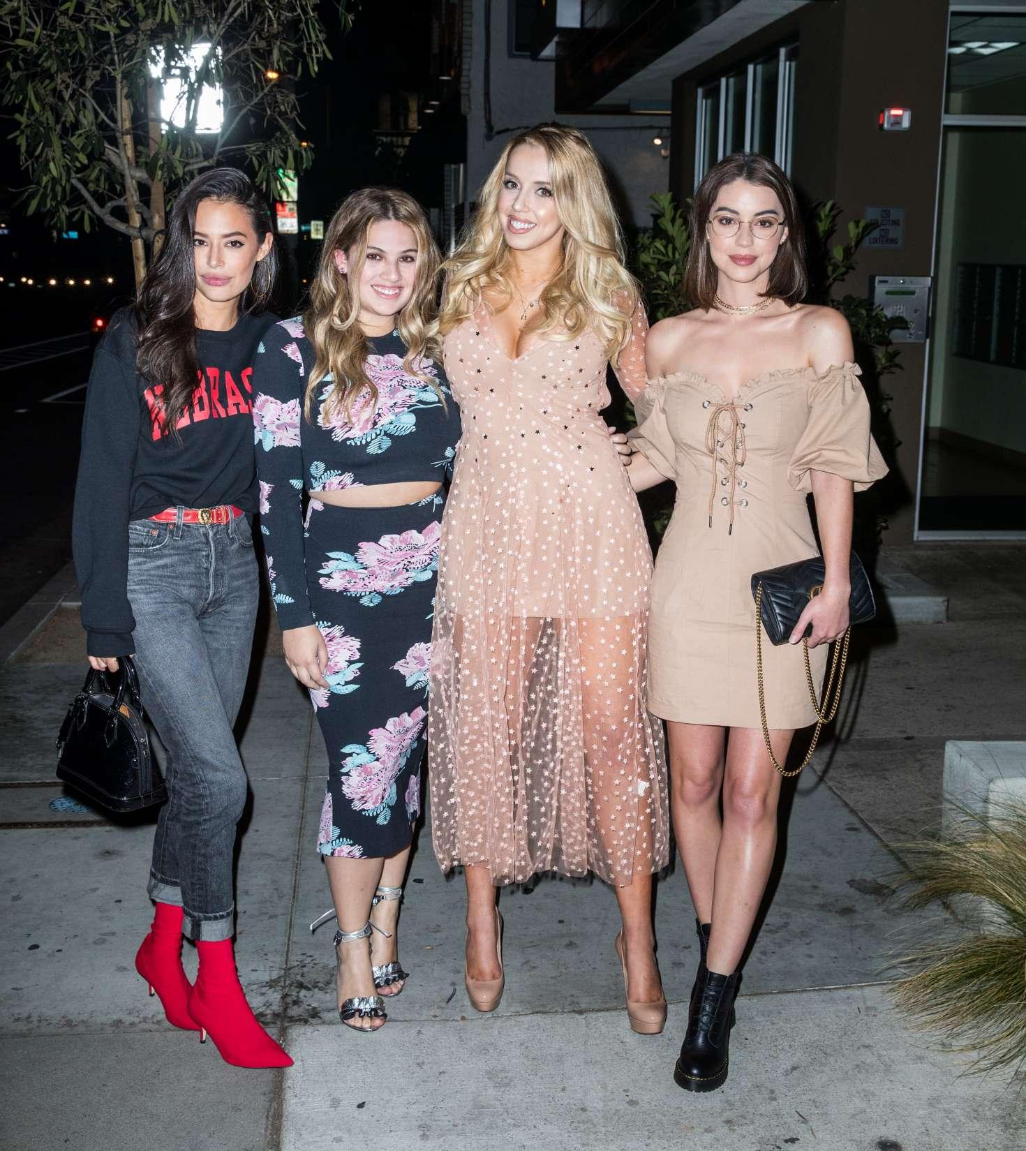 Violet Benson, Chloe Bridges and Adelaide Kane - Violet Benson's Birthday in West Hollywood