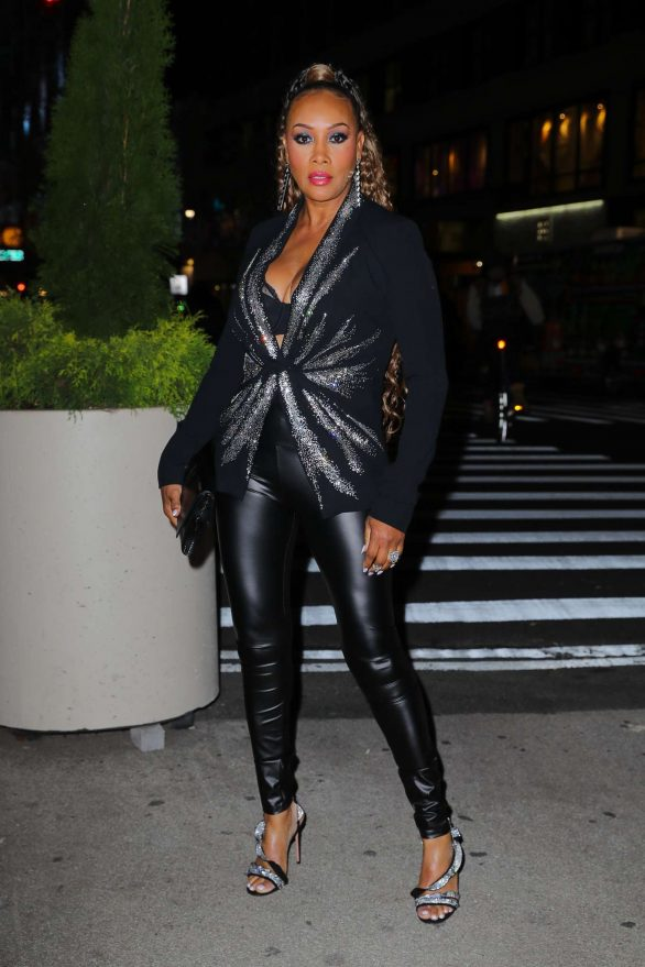 Vivica A. Fox in Leather Leggings at the Ovarian Cancer Research Alliance Presents Style Lab in NYC