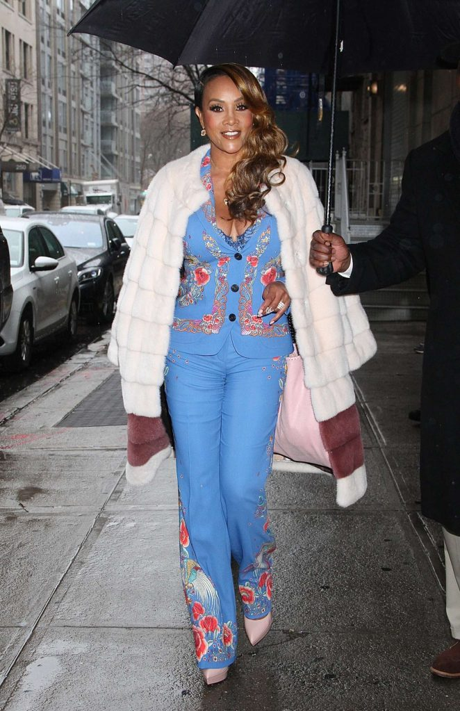 Vivica A. Fox - Leaving 'The Wendy Williams Show' in New York