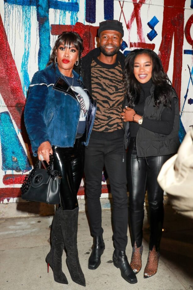Vivica A. Fox - Steps out for dinner at Craig's in West Hollywood