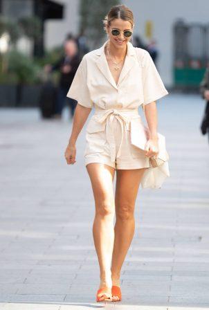 Vogue Williams - Departing Global Studios in London
