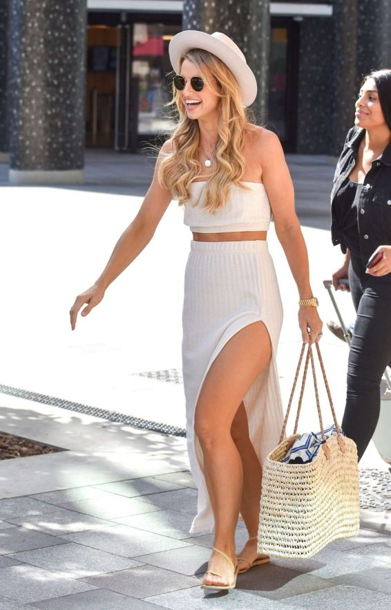 Vogue Williams - In long dress at the ITV Studios