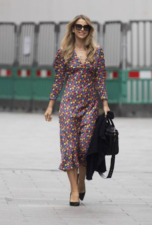 Vogue Williams - In maxi dress seen at Global Radio in London