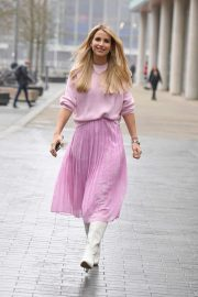 Vogue Williams in Pink out in Media City