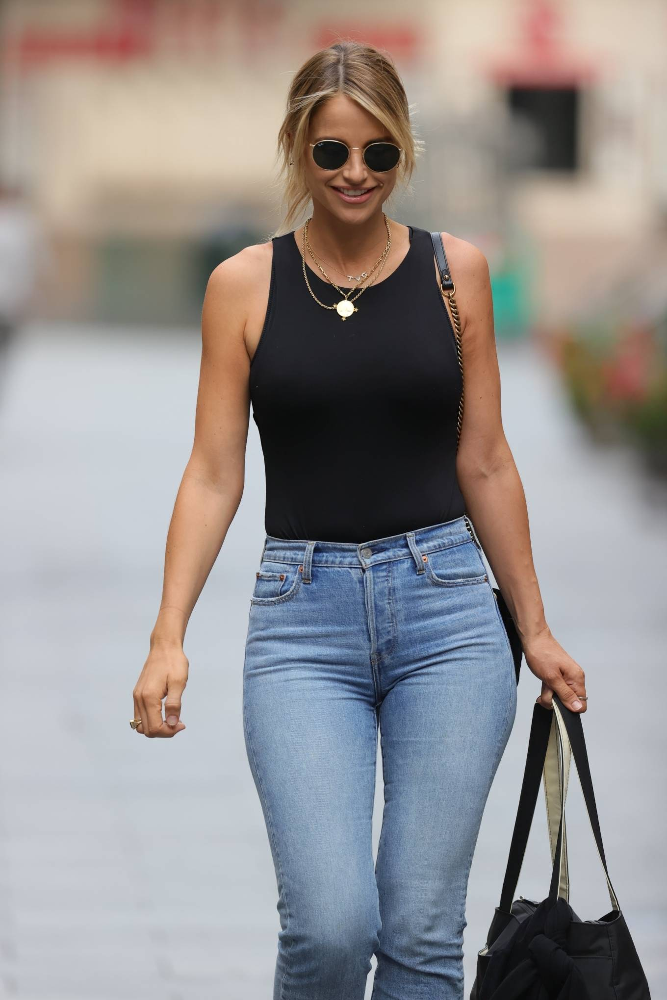Vogue Williams - In tight denim at Heart radio show in London