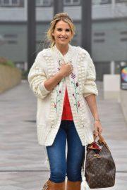 Vogue Williams - Leaving ITV Studios in London
