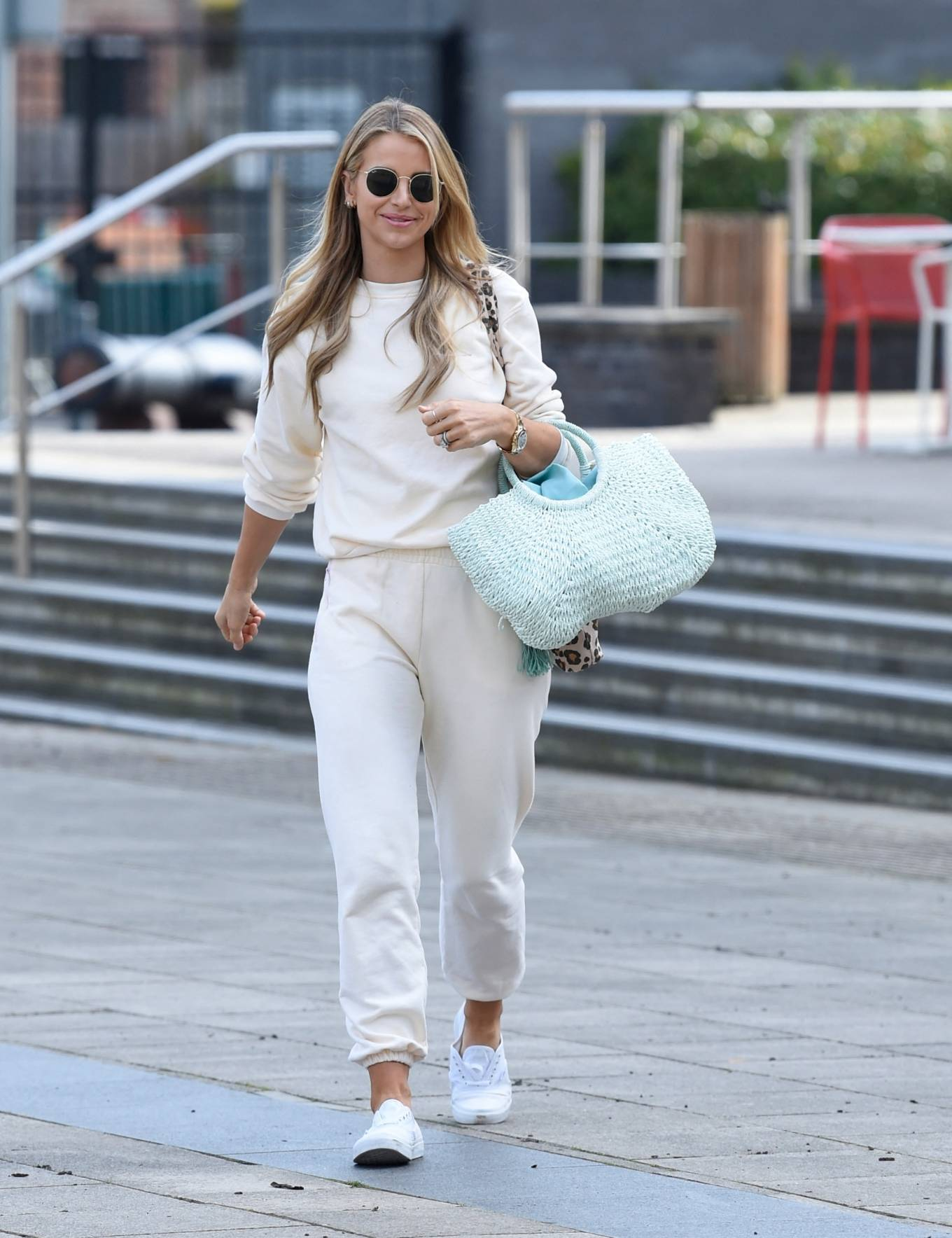 Vogue Williams - Looking adorable at Heart radio in London