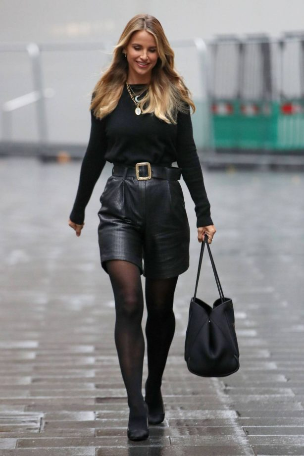 Vogue Williams - Looks chic at Heart Radio Show in London