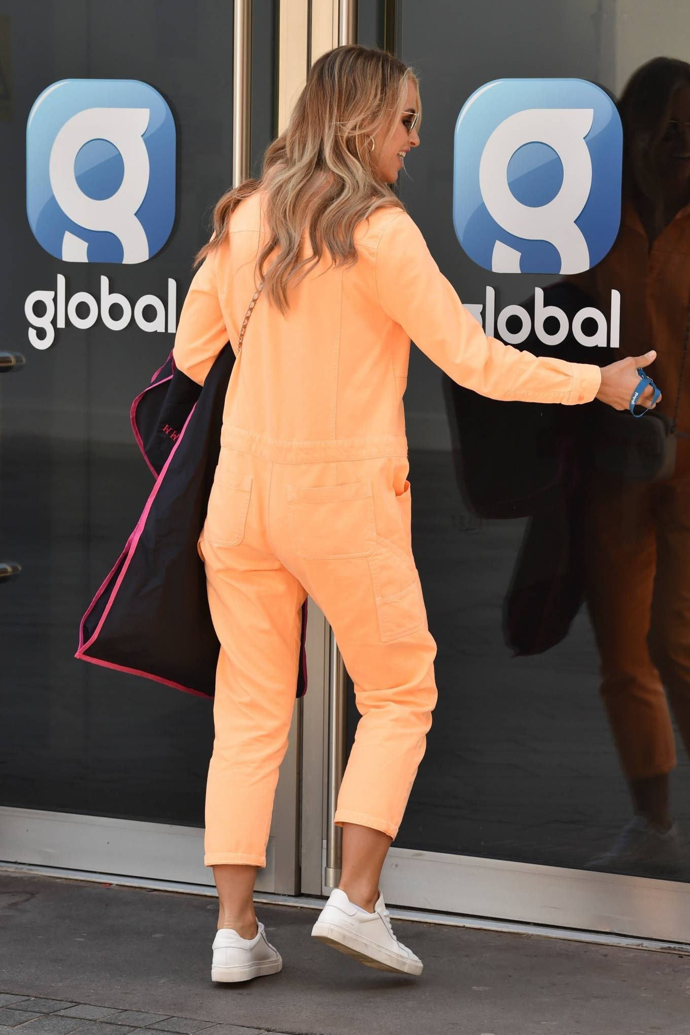 Vogue Williams - Pictured arriving at the Global studios in London