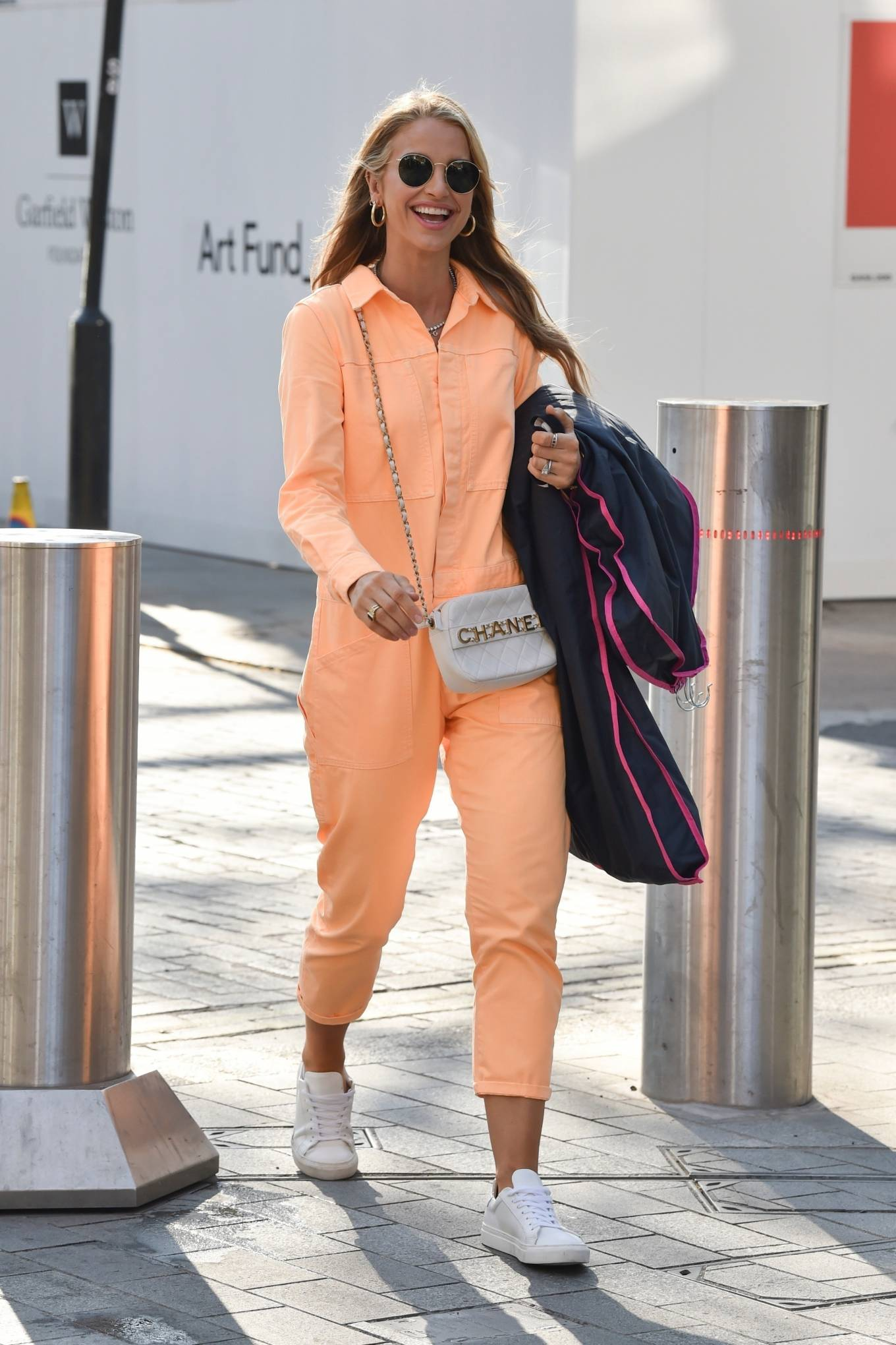 Vogue Williams 2021 : Vogue Williams – Pictured arriving at the Global studios in London-03