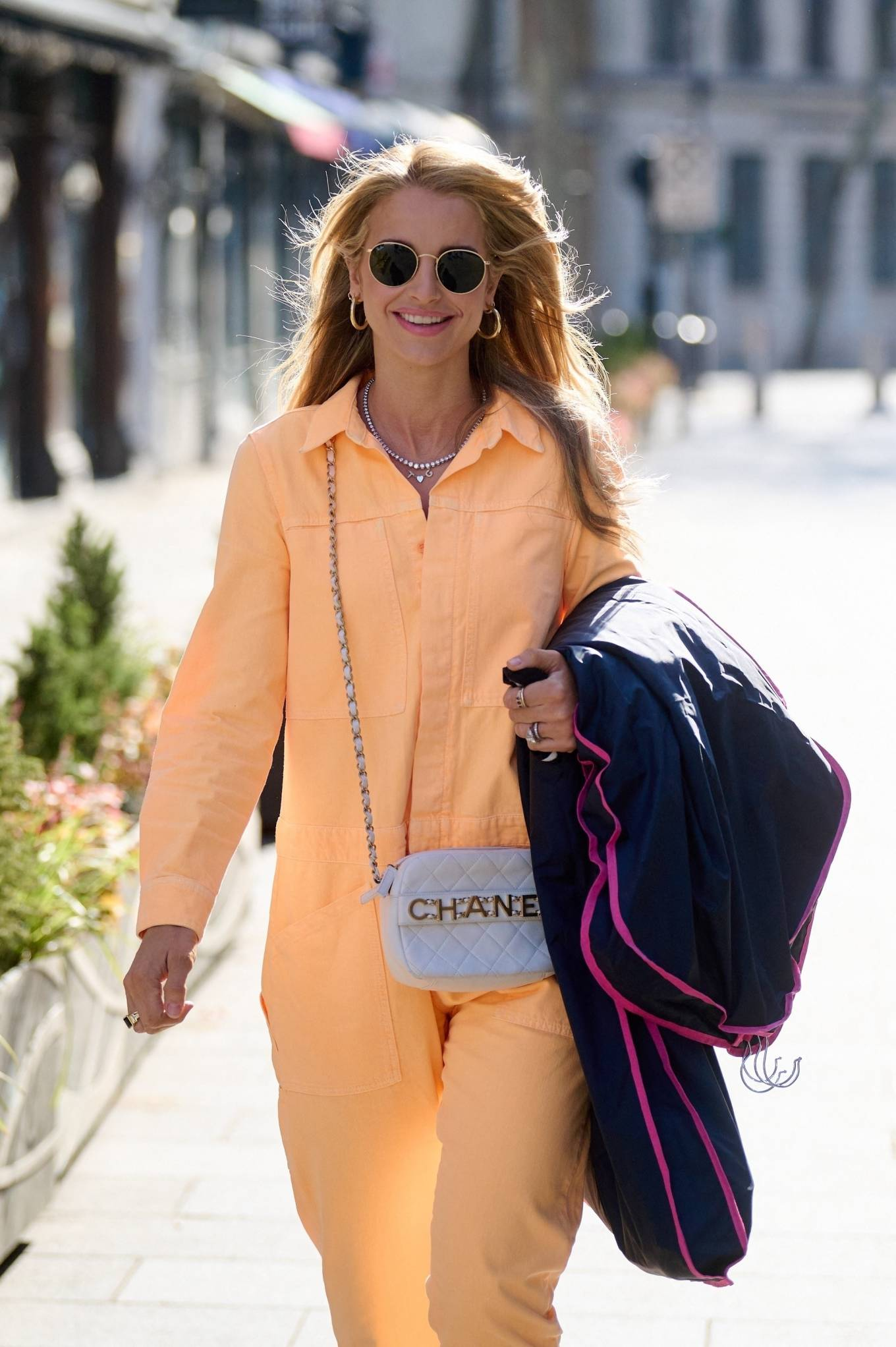 Vogue Williams 2021 : Vogue Williams – Pictured arriving at the Global studios in London-05