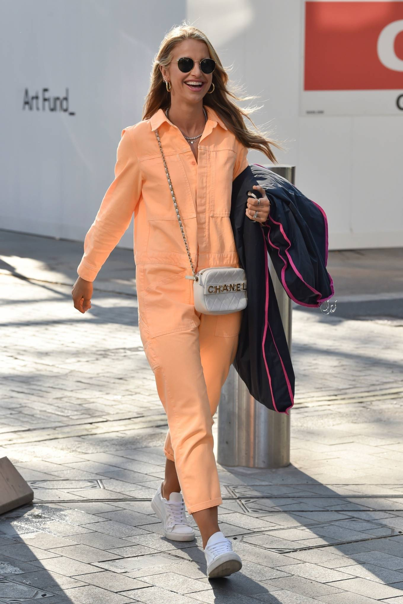 Vogue Williams 2021 : Vogue Williams – Pictured arriving at the Global studios in London-07