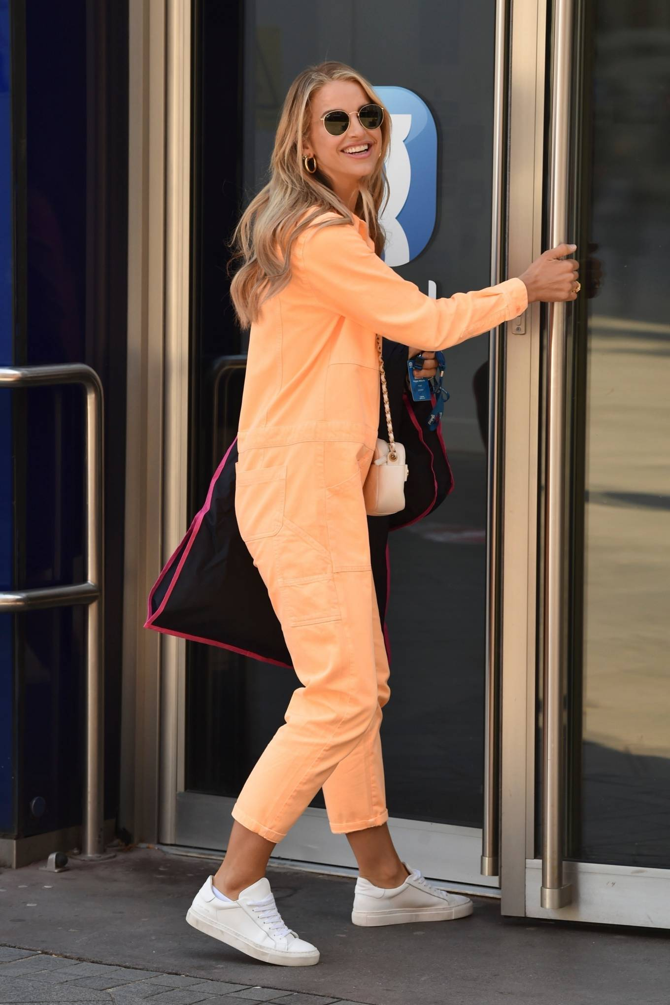 Vogue Williams 2021 : Vogue Williams – Pictured arriving at the Global studios in London-11