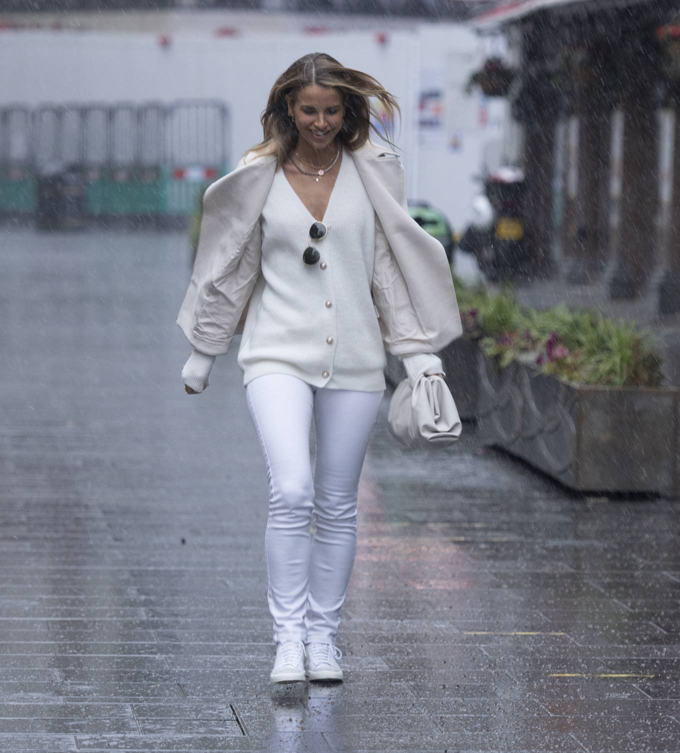 Vogue Williams - Seen after her morning Radio Show in London