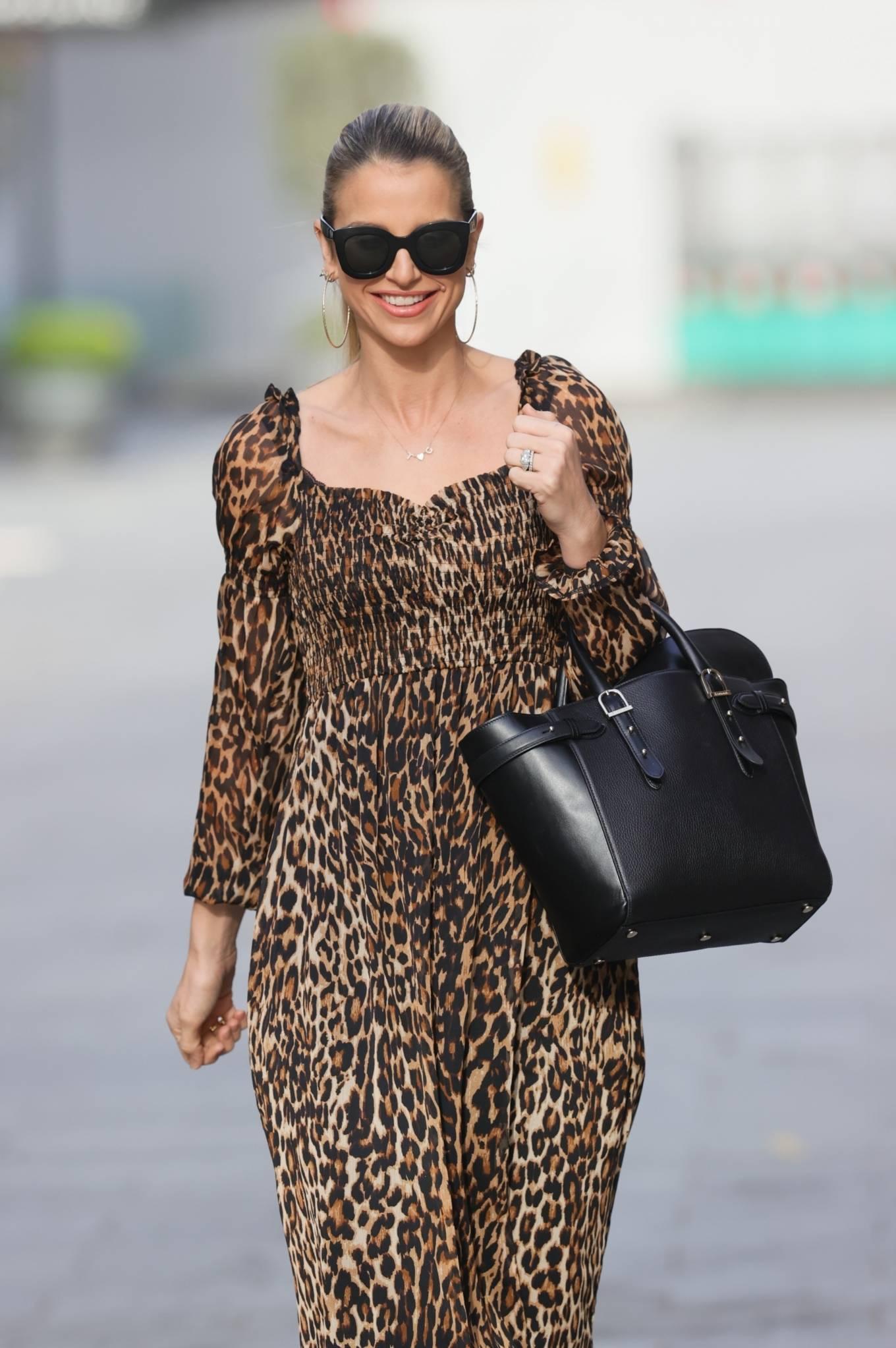 Vogue Williams - Seen in animal print dress in London