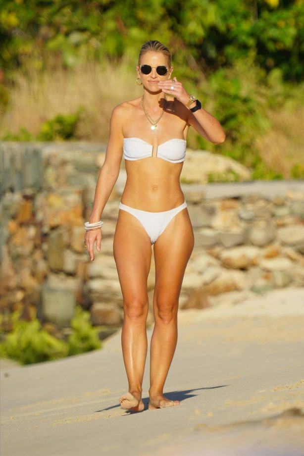 Vogue Williams - Spotted at the beach in St. Barts