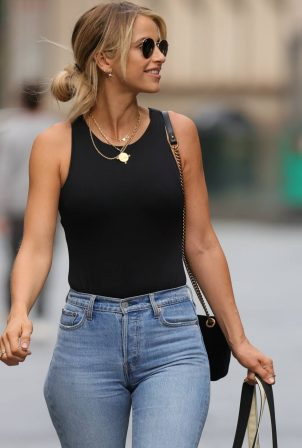 Vogue Williams - Spotted in denim at Heart radio show in London