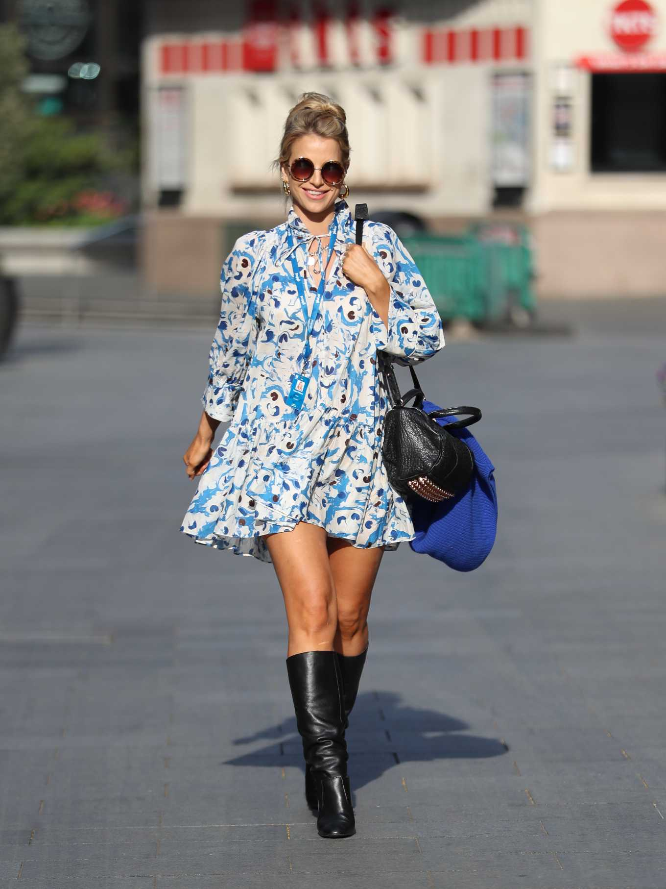 Vogue Williams - Spotted in summer dress in London