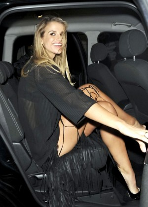 Vogue Williams - Sunday Times STYLE Magazine's Tramp Members' Club in London