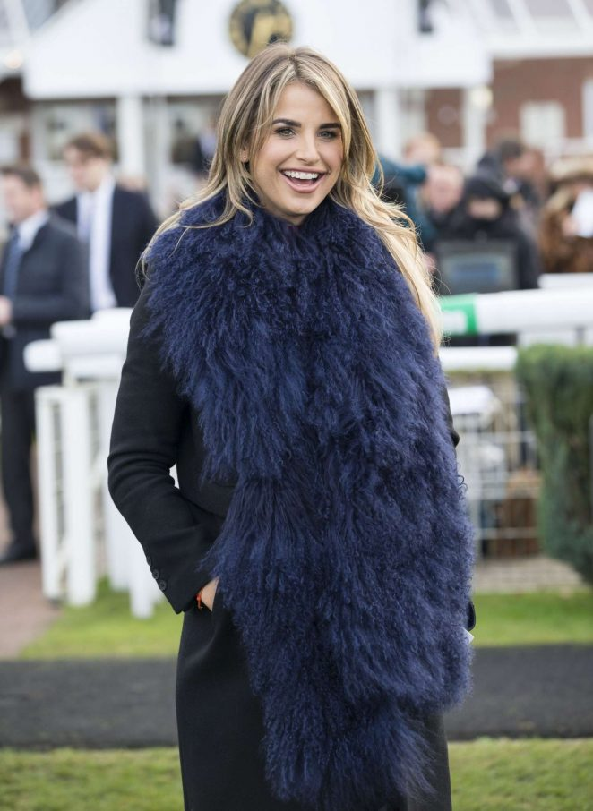 Vogue Williams - The Hennessy Gold Cup at Newbury Racecourse in England