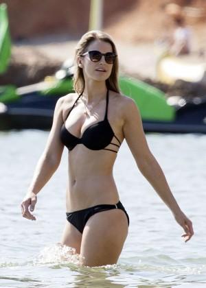 Vogue Williams in Black Bikini in Ibiza