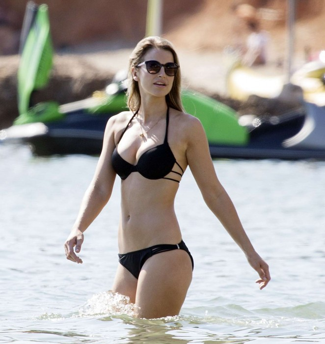 Vogue Williams in Black Bikini in Ibiza